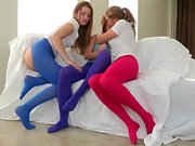 Three young lesbian babes