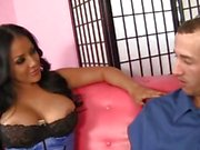 Stunning MILF Kiara Mia seduces a lucky dude