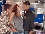 Heather Vandeven fucks two shoesalesmen