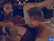Superb hottie Dani Daniels gets pussy eaten and sucks a cock