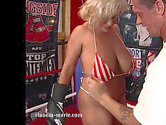 fat Saggy mounds Claudia Marie VS MMA Fighter