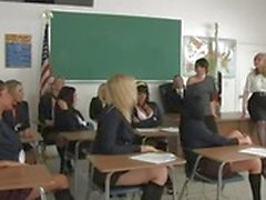 Alexis Texas and friends get horny in class