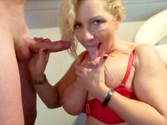 German Mom First Fun with Step Son and then Fuck his Dad