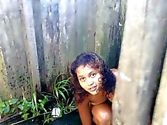 Perfect Teen from Brazil in public shower