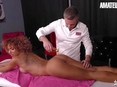 La Cochonne - Her Massage Session Turns Into Some Hardcore Anal Fucking