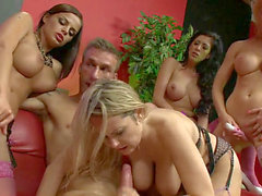 Gemma Massey, Alexis May & others group romp