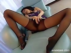 Girl With Long Legs And Stockings wants to cum