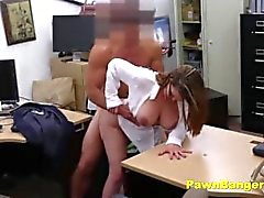 Busty Lady Trades With Her Tits And Pussy For Cash