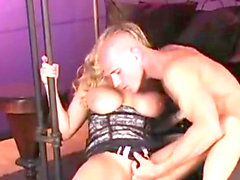 Alanah Rae squeezes her fat jugs out of the top of