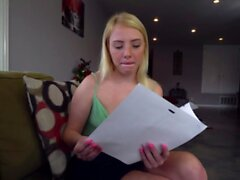 Bigbooty 18yo blonde banged by debt collector
