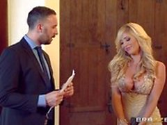 Beautiful blonde Tasha Reign bangs a hot estate agent