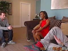 Slender black teen 3way