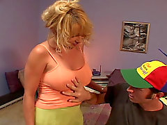 Blond MILF fucking till she comes