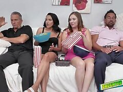 Old man swapping stepdaughters and fucking the hell out of them