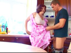 German BBW old Granny Seduce to Fuck in Vintage Taboo Porn