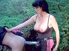 Ultimate female domination with brunette german mistress