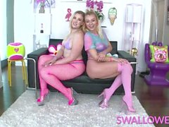 'SWALLOWED Krystal Kash and Nova Cane are hungry for cum'