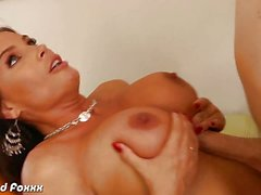 Bosomy pornstar Diamond Foxxx taking a big dick