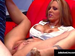 Horny Milf Tutor Julia Ann Bangs Her Student Until He Cums!