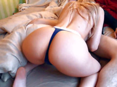Morning poke with spunk all over her - MiniBlondie