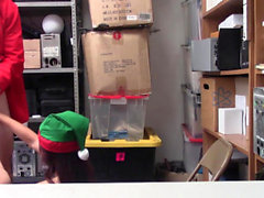 ShopLyfter - Teen Elves Caught Stealing Gets Fucked