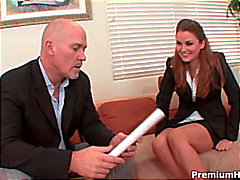 Boss destroys the secretary's pussy