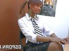 Ebony teen fucked in the office (New! 9 Dec 2020) - Sunporno