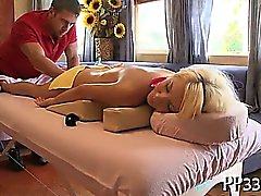 Sensual massage for wild beauty