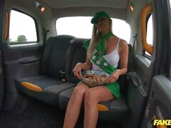 Fake Taxi Venera Maxima gets cum on her face and over her sweet cookies