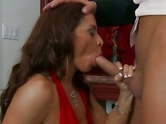 Seductive Devon Michaels couldn't resist her man's nob teasing in her mouth