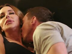 Hunk stud mounts cock in stepmom ts Marissa Minx mouth
