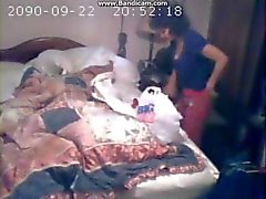 Daughter catches mom playing with her toys again, with spycam