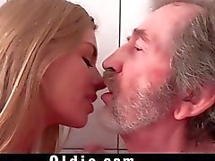 Stunning Young Blonde Fucking Wrinkled Old Man