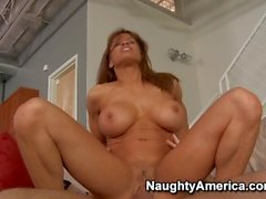 Naughty America Devon Michaels fucking in the couch