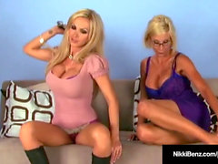 Penthouse Pet Nikki Benz & pummel joy button Puma Swede naked on Cam!