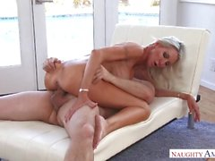 Naughty America Emma Starr fucking in the couch with her small ass