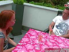 german real redhead couple feel in love and fuck and kiss