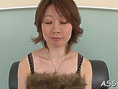 lewd mature girl rio kagawa is playing with love beads