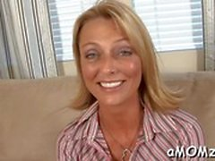 delicious blonde mature brenda james is showing her very