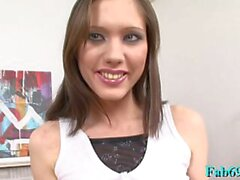 meat rocket riding by delectable russian brunette aspen